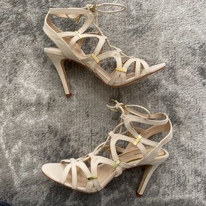 Call It Spring Nude Strappy Heels— NEVER WORN